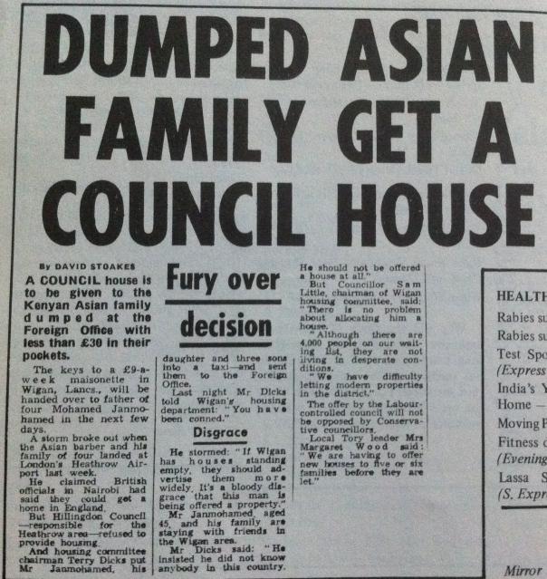 Terry Dicks and the Kenyan Asian family