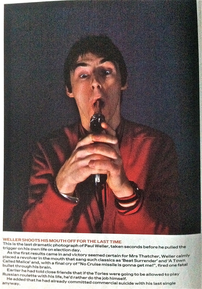 Paul Weller takes the news badly