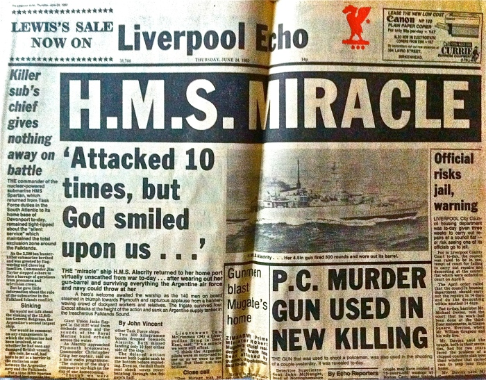 Liverpool Echo on the Falklands