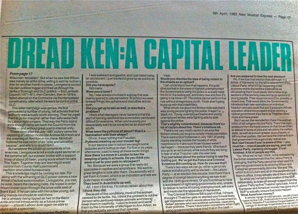 Ken Livingstone interviewed