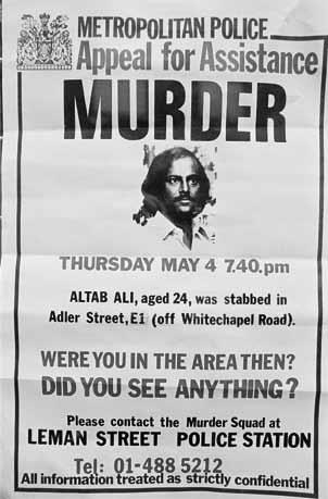 Altab Ali Met Police Appeal